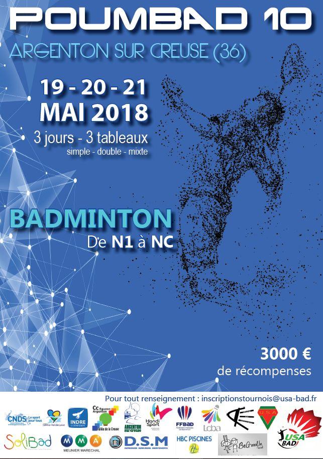 Poumbad 10 tournoi badminton