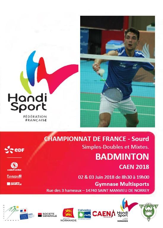 championnat badminton sourd caen