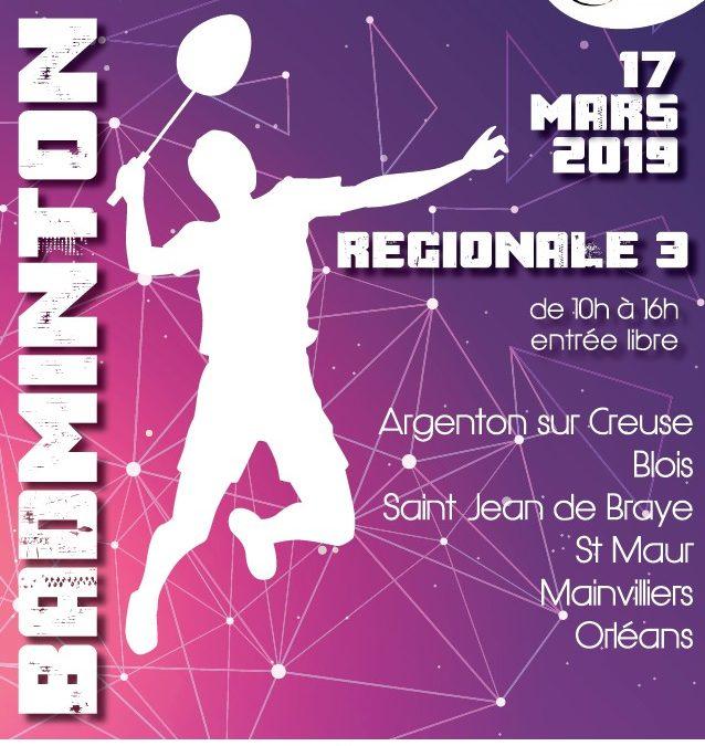 Régionale 3 à domicile le 17 mars 2019