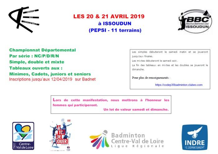 Championnat départemental Sénior 20-21/04