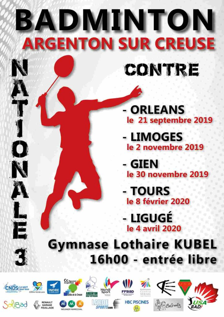 Badminton national 3 a argenton